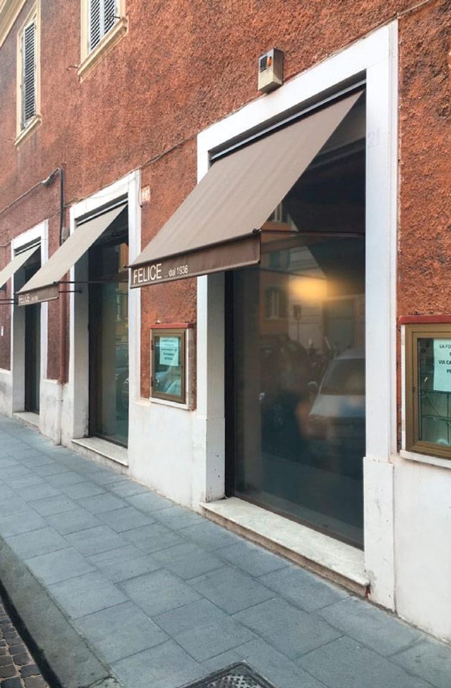 Esterno ristorante Roma | Felice a Testaccio