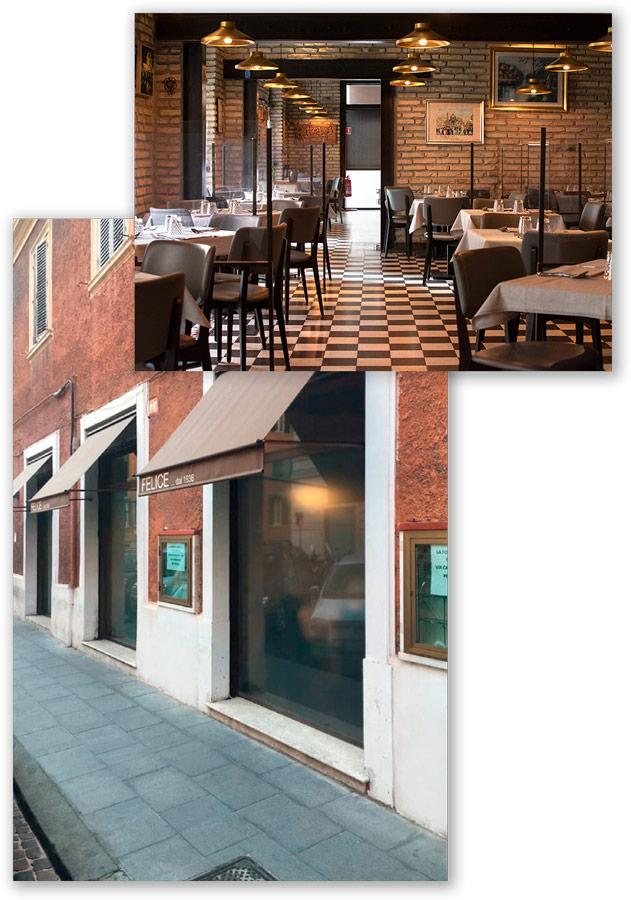 Interni ristorante Roma | Felice a Testaccio